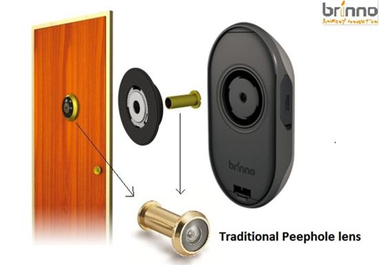 Brinno peephole camera door camera the digital door for Door peephole camera